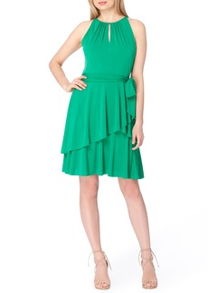 Tahari Tiered Fit & Flare Dress