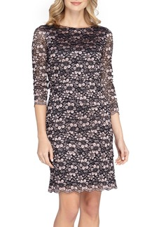 Tahari Tiered Lace Sheath Dress (Regular & Petite)