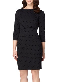 Tahari Tiered Ponte Sheath Dress (Regular & Petite)
