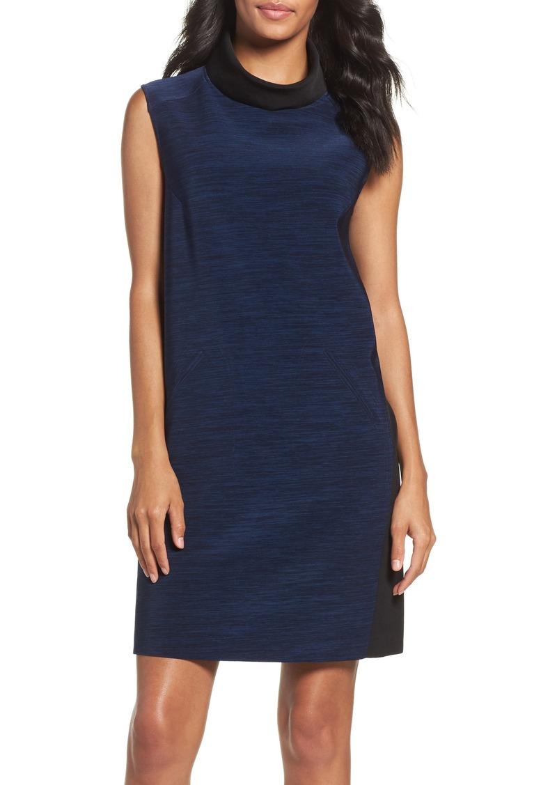 Tahari Turtleneck Shift Dress (Regular & Petite)