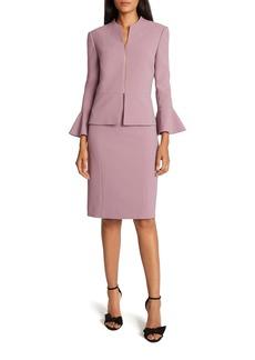 Tahari Two-Piece Peplum Jacket & Sleeveless Sheath Dress