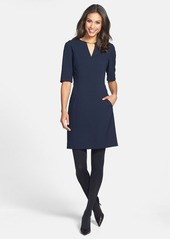 Tahari V-Neck Shift Dress (Regular & Petite) (Online Only)