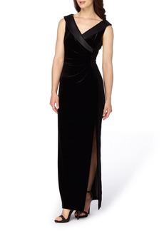 Tahari Velvet Gown