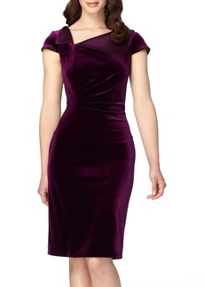 Tahari Velvet Sheath Dress