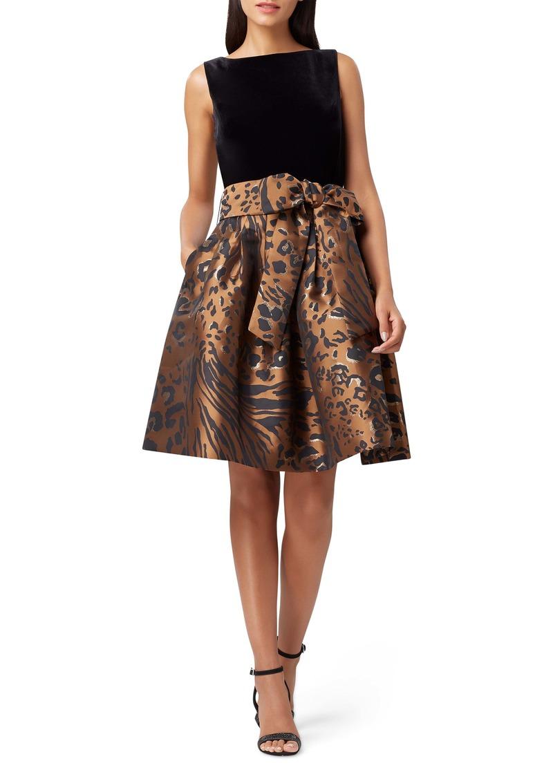 Tahari Velvet Sleeveless Fit & Flare Dress