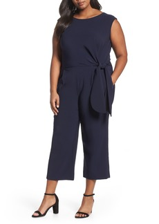 Tahari Wide Leg Crop Jumpsuit (Plus Size)