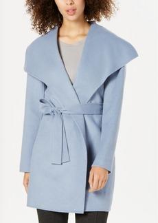 Tahari Wing-Collar Wrap Coat