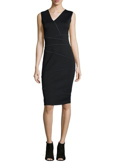 Tahari Woman Alexia Reversible Asymmetric-Panel Sheath Dress