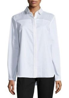 Tahari Woman Torence Long-Sleeve Tunic Blouse