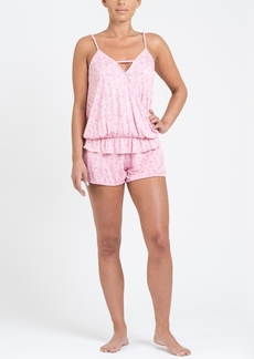 Tahari Women's Crossover Tank and Short Pajama Set