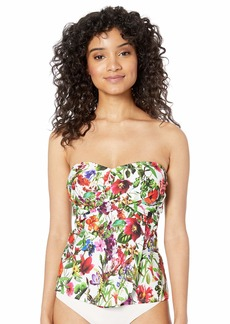 TAHARI Women's Fly Away Bandeau Tankini Top with Removable Strap