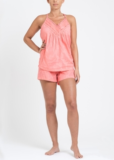 Tahari Women's Racerback V-Neck Top and Short Pj Set