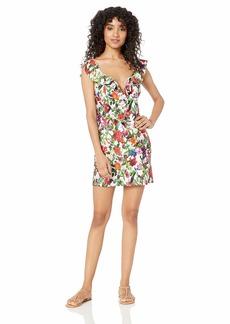 Tahari Women's Ruffle Front V Wire Swimwear Cover-Up Dress