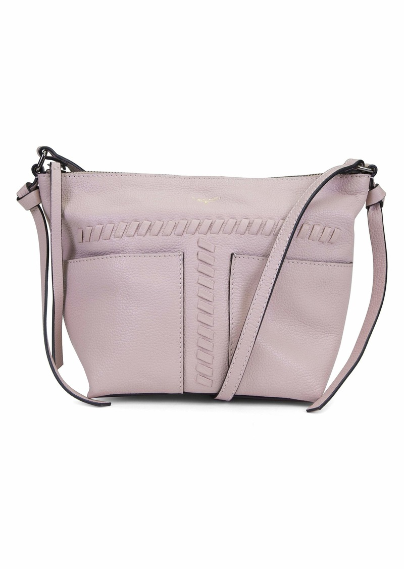 Tahari Womens Skyler Whipstitch TOP Zip Crossbody
