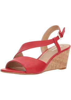 TAHARI Women's TA-Sally Wedge Sandal red  M US