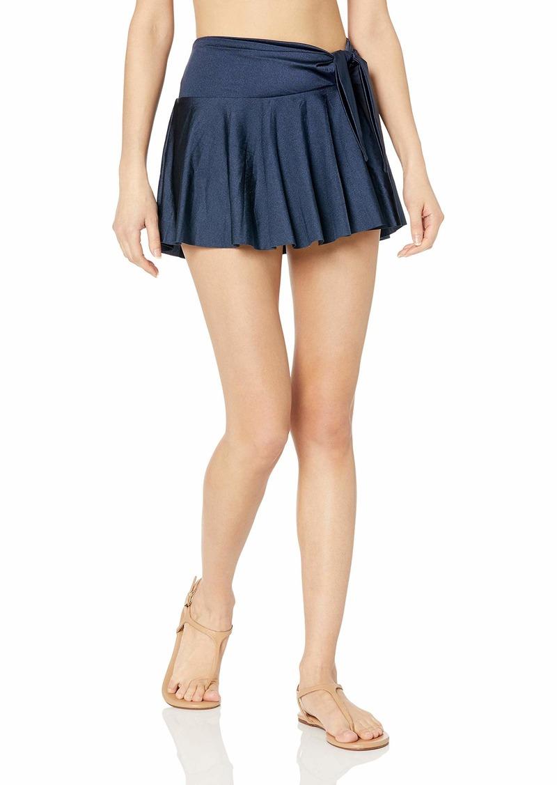 Tahari Women's Tie Front Skirt Swim Swimwear Cover-Up