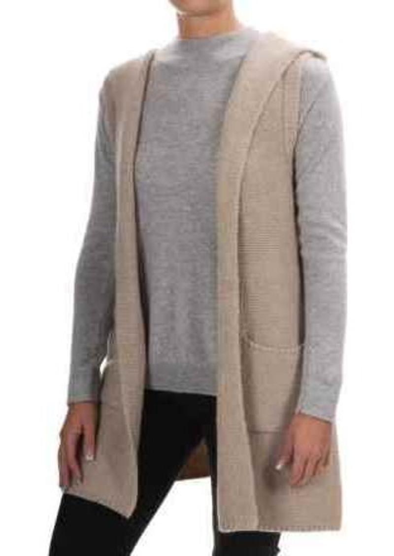 Tahari Tahari Wool Blend Open Front Cardigan Sweater - Hood ...