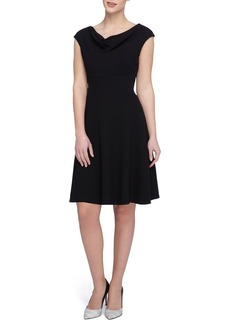 Tahari Woven Fit & Flare Dress (Regular & Petite)