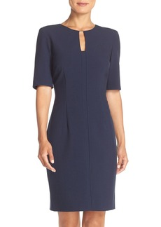 Tahari Woven Sheath Dress (Regular & Petite)
