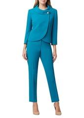 Tahari Wrap-Front Jacket & Pant Suit