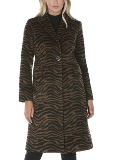 Tahari Zebra-Print Walker Coat, Created for Macy's