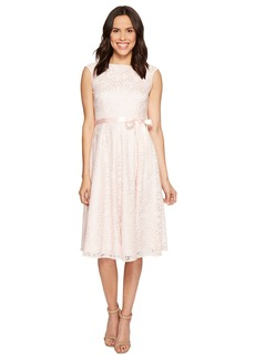 Tahari Tea-Length Lace A-Line Dress