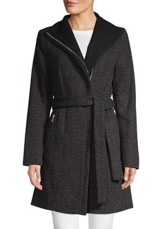 Tahari Textured Self-Tie Jacket