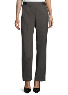 Tahari Textured Straight-Leg Trouser Pants