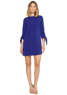 Tahari Textured Tie Sleeve Shift Dress