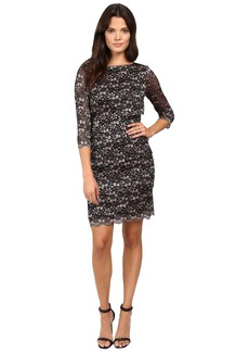 Tahari Tiered Body Sparkle Lace Dress