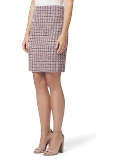 Tahari Tweed A-Line Skirt