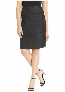 Tahari Tweed Skirt with Metallic Detail