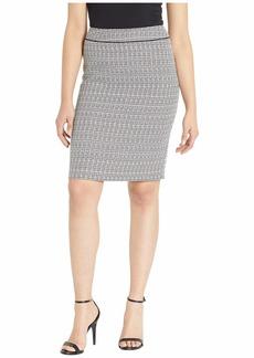 Tahari Tweed Skirt with Waistband Detail