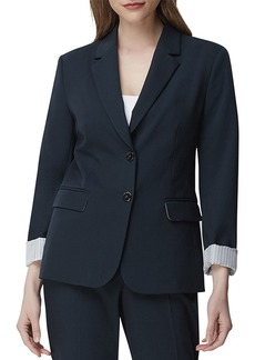 Tahari Two-Button Striped Roll-Cuffed Jacket