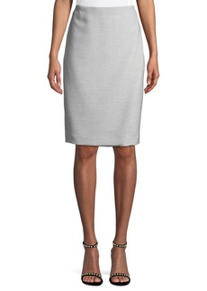 Vera Micro-Ribbed Pencil Skirt