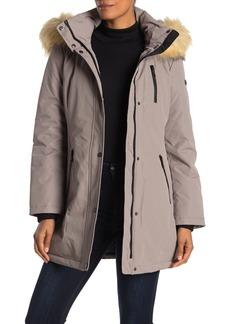 Tahari Whitney Windproof Faux Fur Trim Parka