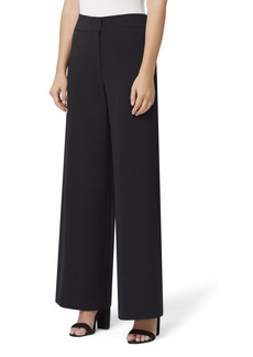 Tahari Wide-Leg Pebble Crepe Pants