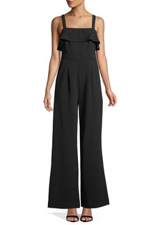 Tahari Wide-Leg Ruffled Jumpsuit