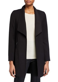 Tahari Wing-Lapel Topper Jacket