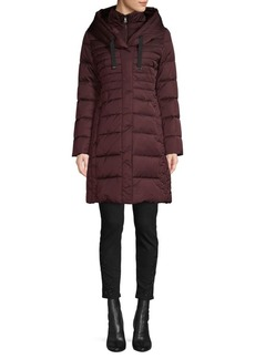 Tahari Zip-Up Bib Down Puffer Jacket
