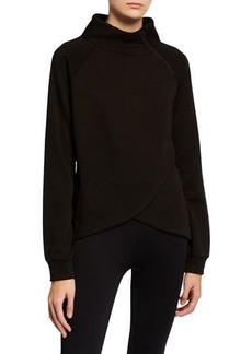Tahari Zipper Spliced-Front Sweatshirt