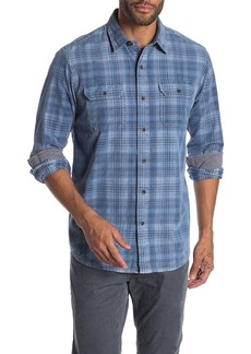 Tailor Vintage Indigo Plaid Print Regular Fit Shirt