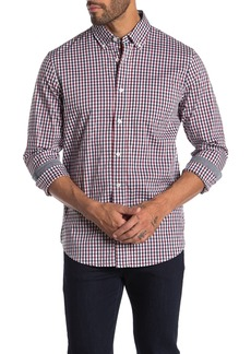 Tailor Vintage Performance Stretch Gingham Print Classic Fit Shirt