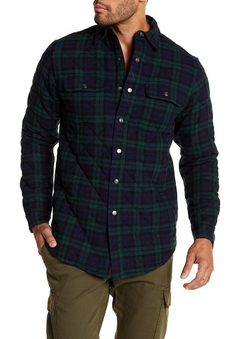 Tailor Vintage Quilted Reversible Flannel Shirt Jacket