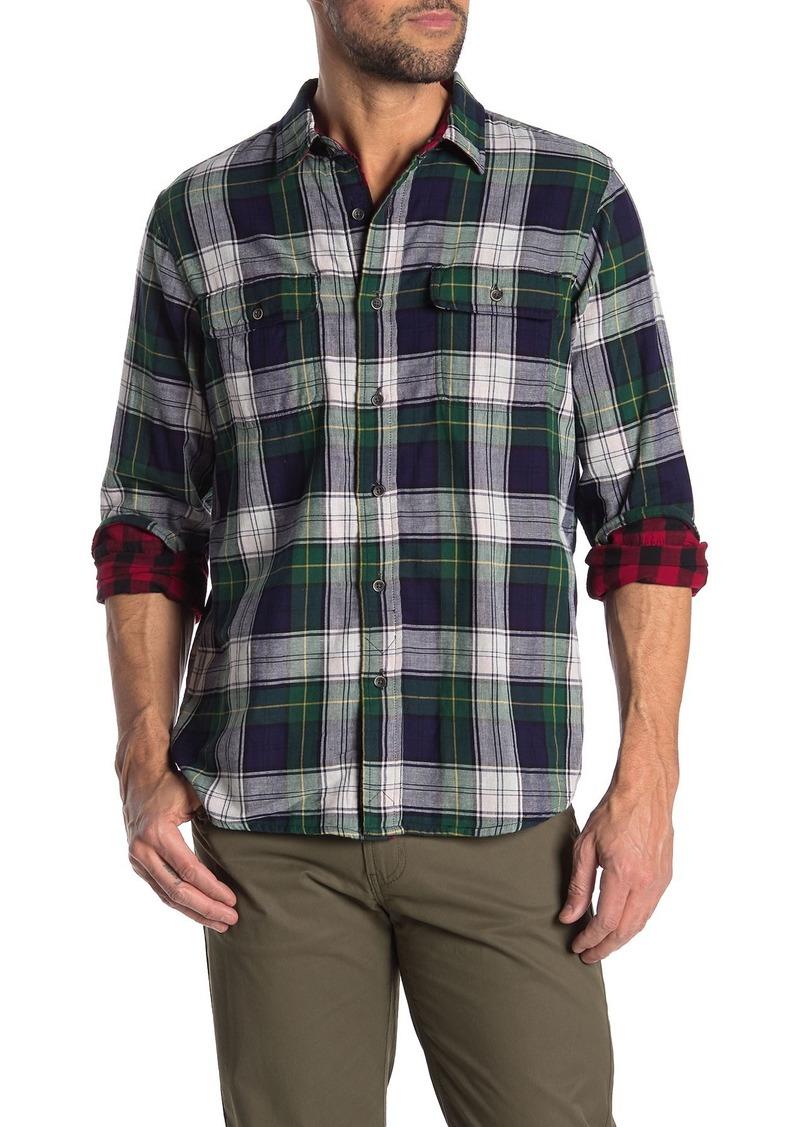 Tailor Vintage Reversible Plaid Regular Fit Flannel Shirt