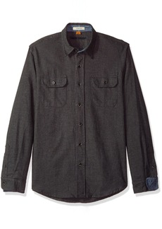 Tailor Vintage Men's Heather Brushed Double Pocket Flannel Shirt