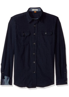 Tailor Vintage Men's Heather Brushed Double Pocket Flannel Shirt  M
