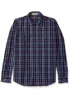 Tailor Vintage Men's Highland Lake Indigo Plaid Shirt  XL