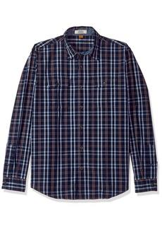 Tailor Vintage Men's Highland Lake Indigo Plaid Shirt  M