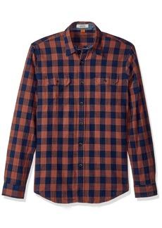 Tailor Vintage Men's Indigo Buffalo Plaid Shirt  L